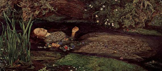 """Das wohl bekannteste Gemälde für das Elizabeth Eleanor Siddal Model stand ist """"Ophelia"""" von John Everett_Millais"""