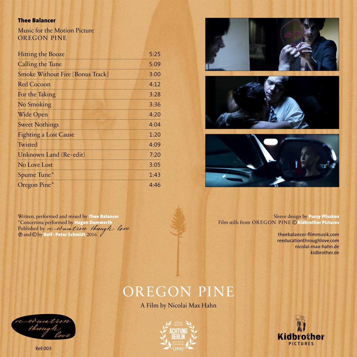 """Der Score zum Film """"Oregon Pine"""" von Rolf-Peter Schmidt aka Thee Balanc"""
