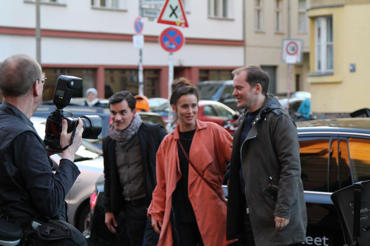 Die Hauptdarsteller fuhren in einer Limousine von Sponsor AUDI vor