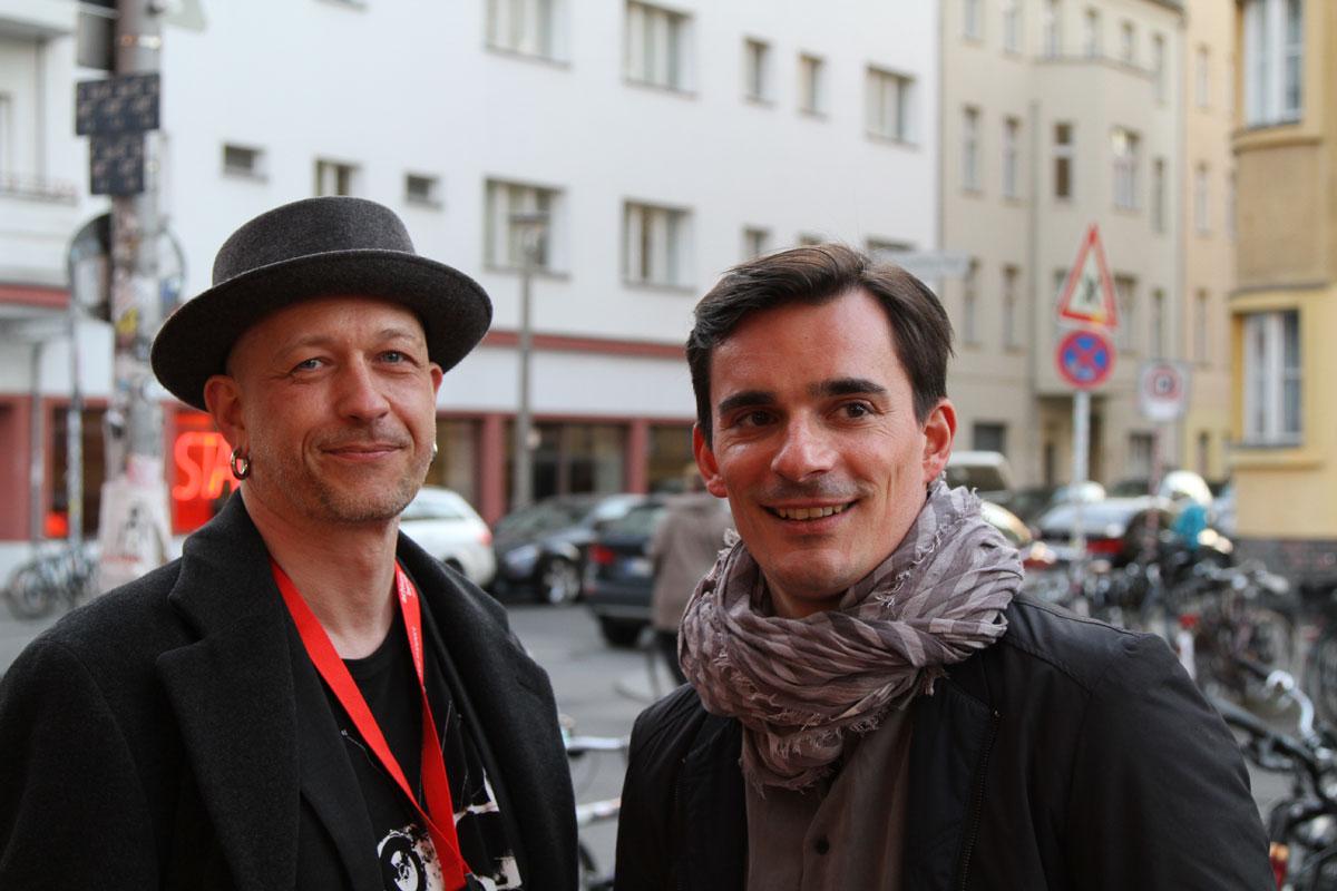 Hannes Wegener und ich vor der Premiere