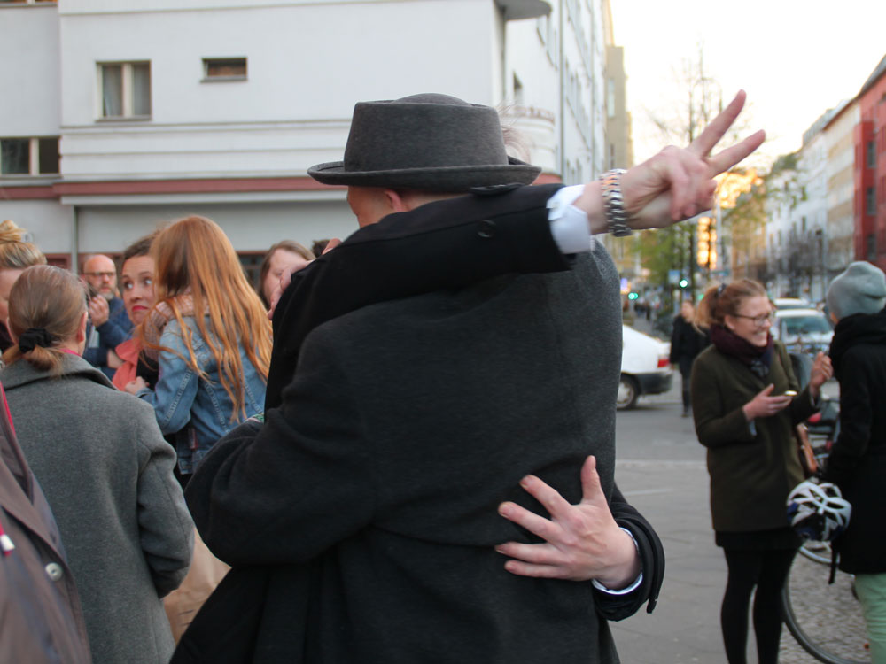 Nicolai Max Hahn und ich bei der Begrüßung :-)