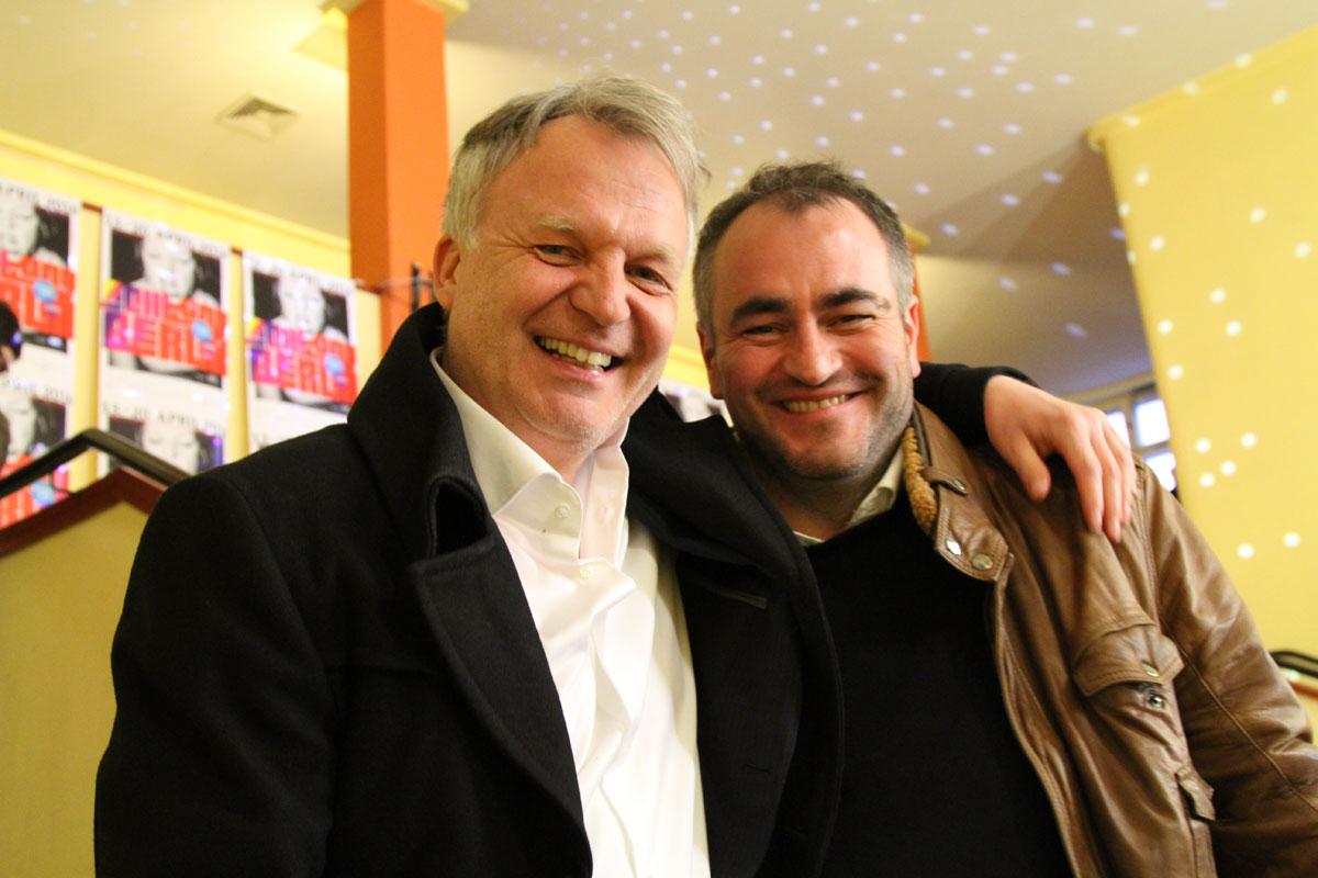 Buddies und Produzenten des Films, Nicolai Max Hahn und Vulnet Rusani